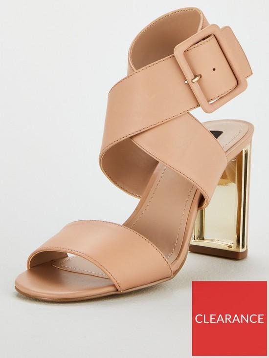 e73a072c665 Heidi Ankle Strap Sandal Heeled Shoes - Nude Pink