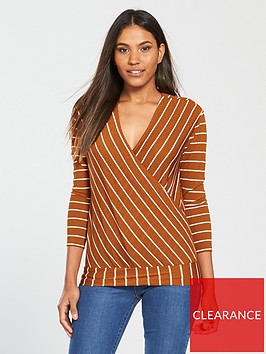 v-by-very-wrap-over-stripe-top-rustnbsp