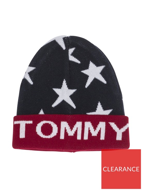 11387202b2c04 Tommy Hilfiger Unisex Star Beanie - Navy