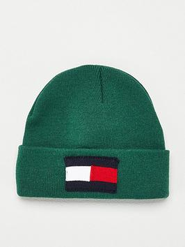 tommy-hilfiger-flag-beanie-green