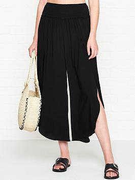 seafolly-shirred-waist-wrap-trousers-black