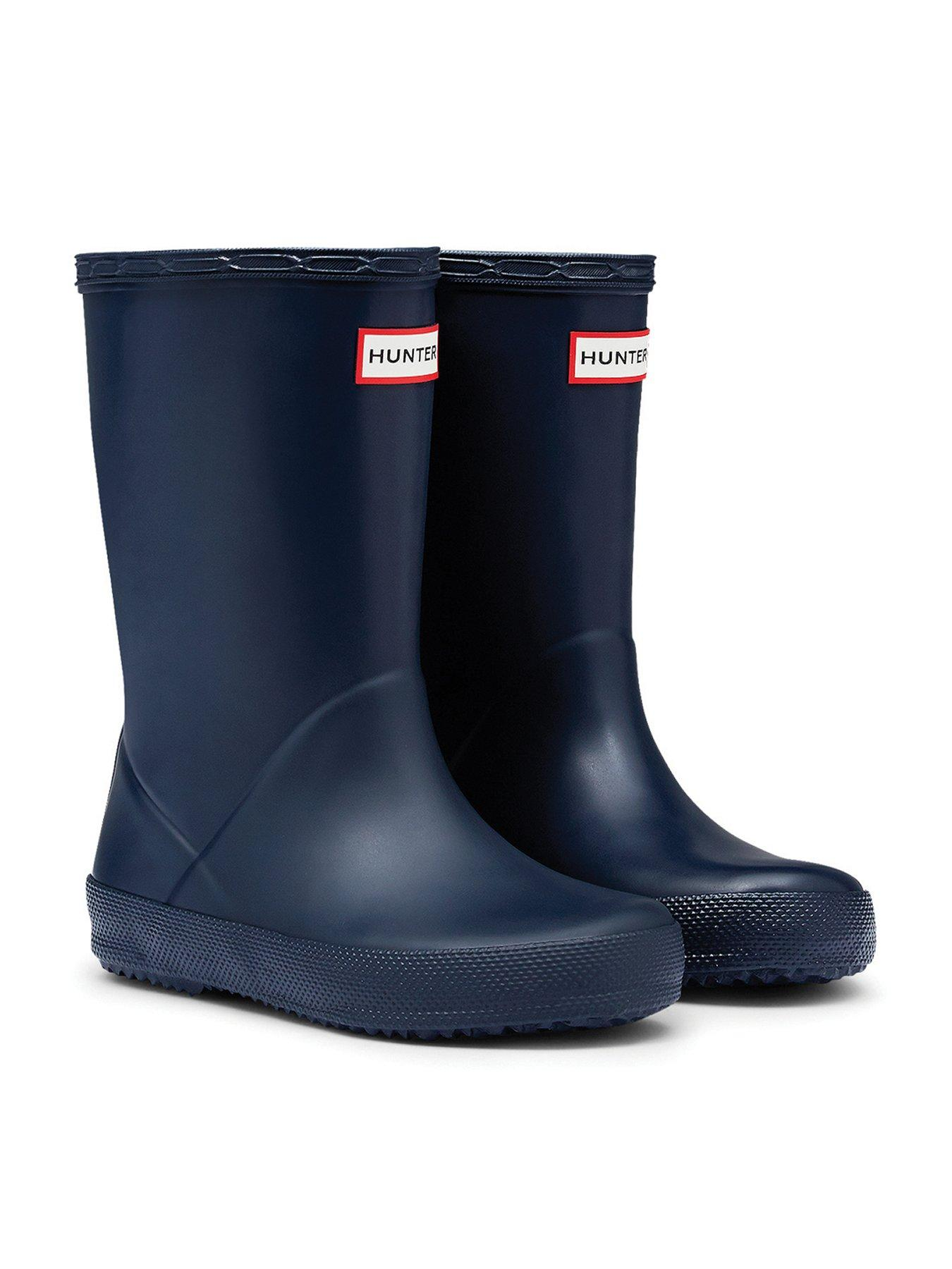 New Childrens//Unisex Navy Rubber Long Leg Wellington Boots UK Size