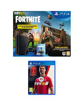 playstation-4-fortnite-royal-bomber-skin-500gb-console-bundle-with-fifa-18-500-v-bucks-plus-optional-extras