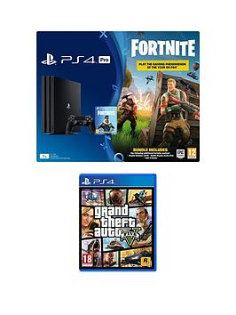 playstation-4-pro-ps4-pro-black-console-with-fortnite-royal-bomber-skin-and-500-v-bucks-with-grand-theft-auto-5-gta-v-plus-optional-extra-controller-andor-365-day-psn-subscription