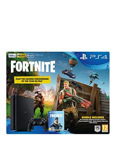 playstation-4-ps4-500gb-black-console-with-fortnite-royal-bomber-skin-and-500-v-bucks-and-option-extras