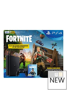 playstation-4-ps4-500gb-black-console-with-fortnite-royal-bomber-skin-and-500-v-bucks-black-dualshock-controller-and-365-day-psn-subscription
