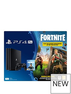 playstation-4-pro-ps4-pro-black-console-with-fortnite-royal-bomber-skin-and-500-v-bucks-black-dualshock-controller-and-365-day-psn-subscription