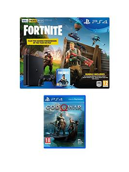 playstation-4-ps4-500gb-black-console-with-fortnite-royal-bomber-skin-and-500-v-bucks-with-god-of-war-plus-optional-extras