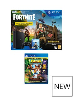 playstation-4-500gbnbspblack-console-with-crash-bandicoot-n-sane-trilogy-fortnite-royal-bomber-skin-and-500-v-bucks-plus-optional-extra-controller-andor-12-months-playstation-network