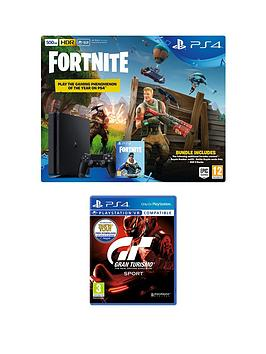 playstation-4-fortnite-royal-bomber-skin-500gb-console-bundle-with-500-v-bucks-gran-turismo-sport-and-optional-extras