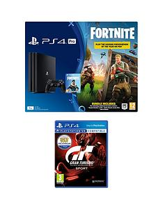 playstation-4-pro-ps4-pro-black-console-with-fortnite-royal-bomber-skin-and-500-v-bucks-with-gran-turismo-sport-plus-optional-extra-controller-andor-365-day-psn-subscription
