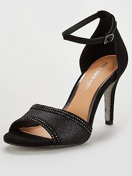 Head Over Heels Glitter Sole Sandal - Black