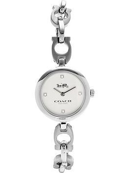 coach-signature-chain-link-bracelet-watchnbsp-nbspsilver