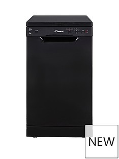 Candy CDP2L1049B 10-Place Slimline Dishwasher - Black Best Price, Cheapest Prices