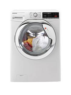 Hoover Dynamic Next WDXOA4106HC 10kg Wash, 6kg Dry, 1400 Spin Washer Dryer with One Touch - White/Chrome
