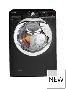 Hoover Dynamic Next WDXOA4106HCB 10kg Wash, 6kg Dry, 1400 Spin Washer Dryer with One Touch - Black