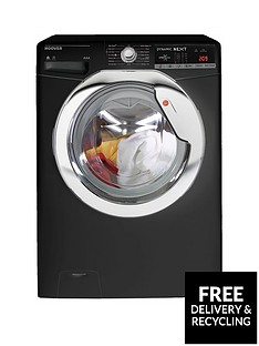 Hoover Dynamic Next WDXOA4106HCB 10kg Wash, 6kg Dry, 1400 Spin Washer Dryer with One Touch - Black/Chrome