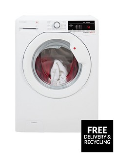 Hoover Dynamic Next DXOA148TLW3 8kg Load, 1400 Spin Washing Machine with One Touch - White