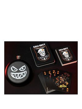 Call Of Duty Call Of Duty Black Ops 4 Hipflask And Playing Cards Set