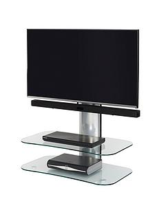 Off The Wall Arc ST 80 cm TV Stand - Silver/Clear Glass - fits up to 32 inch TV