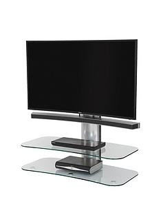Off The Wall Arc ST 100 cm TV Stand - Silver/Clear Glass - fits up to 46 inch TV