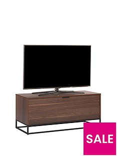 Off The Wall Cube 110 cm TV Cabinet - Walnut Effect - fits up to 50 inch TV