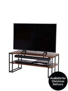 off-the-wall-cube-110-cm-open-tv-standcoffee-table-metalwalnut-effect-fits-up-to-50-inch-tv