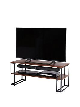 off-the-wall-cube-110-cm-open-tv-standcoffee-table-metalwalnut-effect-fits-up-to-55-inch-tv