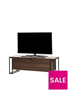 Off The Wall Cube 130 cm TV Cabinet - Walnut Effect - fits up to 60 inch TV