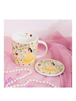 disney-mug-amp-coaster-gift-set-ariel-belle-cinderella-aurora-or-snow-white