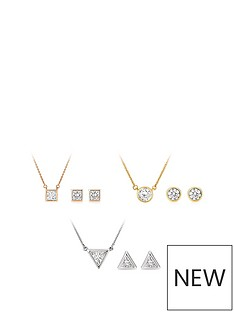 buckley-london-buckley-london-gold-amp-silver-plated-cubic-zirconia-triple-pendant-amp-earrings-set-with-free-gift-bag