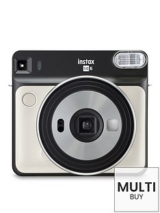 fujifilm-instax-instax-square-sq6-instant-camera-with-optional-10-or-30-pack-of-paper-pearl-white
