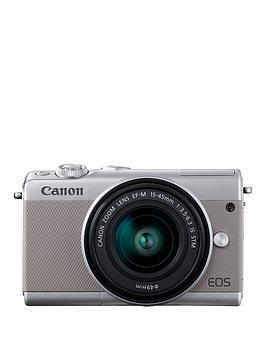 canon-eos-m100-csc-camera-kit-inc-15-45mm-lens-amp-irista-50gb-storage-grey