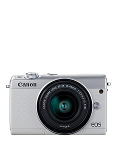 canon-eos-m100-white-csc-camera-inc-15-45mm-lens-irista-50gb-with-free-neck-strap