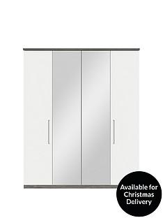 consort-stella-gloss-front-4-door-centre-mirrored-wardrobe