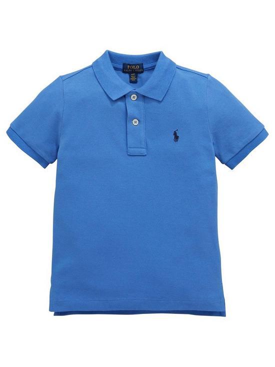 fdc68bb96 Ralph Lauren Boys Classic Short Sleeve Polo Shirt - Blue | very.co.uk