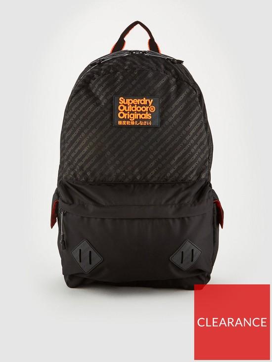 fc8b5fd23a7 Superdry Hamilton Montana Backpack - Black | very.co.uk