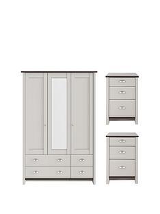 Grey Consort Bedroom Furniture Sets Home Garden Www Very Co Uk