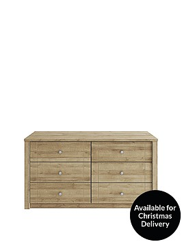 consort-bronte-ready-assembled-3-3-drawer-chest
