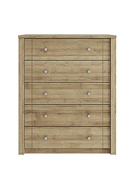 consort-bronte-ready-assembled-5-drawer-chest
