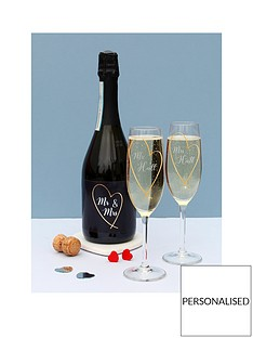 personalised-gold-heart-prosecconbspamp-2-glasses-in-a-hamper-giftbox