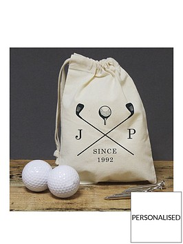 personalised-golf-bag-and-silver-plated-tees-set-with-two-golf-balls