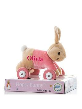 peter-rabbit-personalised-flopsy-pull-along