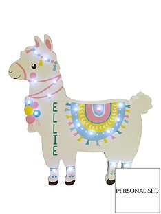 personalised-llama-led-wall-light