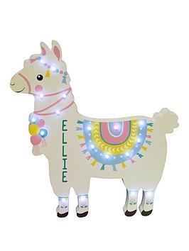 personalised-llama-led-wall-light
