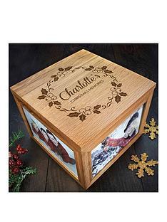 personalised-chrismas-photo-memory-box-mistletoe-design