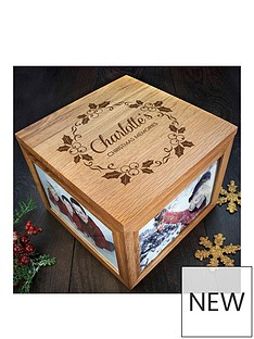 personalised-chrismas-photo-memory-box-mistletoe-design