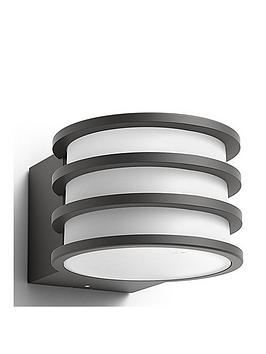 Philips Hue Outdoor Lucca Wall Lantern Anthracite 1X9.5W 230