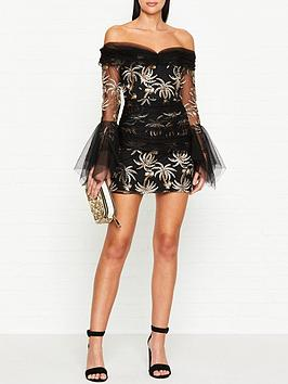 alice-mccall-all-that-she-wants-palm-embroidered-tulle-mini-dress-black