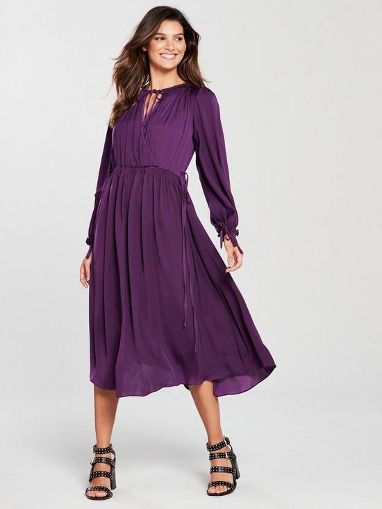 3278927dc2b7 River Island Wrap Midi Dress - Purple